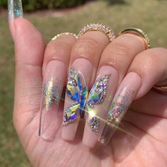 """""""your success is our reward"""" – Ugly Duckling Nails Inc. - Beautiful nails by Nailed By Cristy 😍 Ugly Duckling Nails is dedicated to keeping love, support, - May Nails, Aycrlic Nails, Nail Manicure, Rhinestone Nails, Bling Nails, Bling Nail Art, Nails Design With Rhinestones, Nail Designs Bling, Nail Art Designs"""