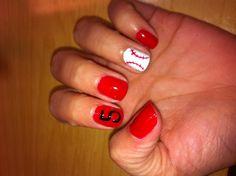 Baseball mom nails!