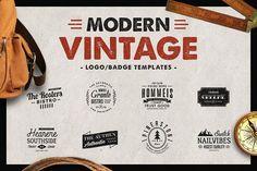 nice Modern Vintage - Logo Templates  CreativeWork247 - Fonts, Graphics, Th...