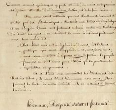Lettre à George Washington du Comité de Salut public, zoom, (source Christies)