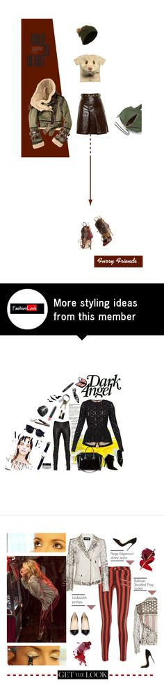 """""""Furry Friends of a different variety"""" by fl4u on Polyvore featuring Gucci, TEN, Rebecca Minkoff, Dsquared2, Accessorize, fur, pompom and furryfriends"""