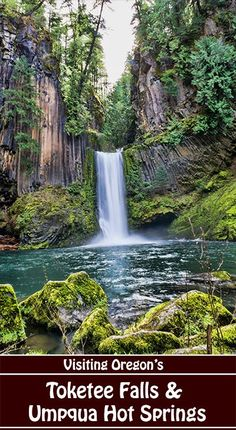 Day trip to one of Oregon's most beautiful waterfalls on an easy hike, then enjoy nearby clothing-optional Umpqua Hot Springs Columnar basalt near Crater Lake Oregon Travel, Oregon Vacation, Oregon Road Trip, Travel Usa, Oregon Tourism, Oregon Hiking, Oregon Coast Camping, Southern Oregon Coast, Travel Tourism