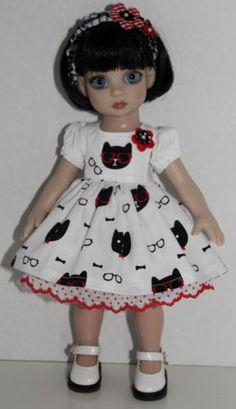 Cool-Cats-Dress-Set-fits-10-Tonner-Ann-Estelle-Patsy-4PC