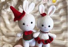 Let's make small rabbits together- BİRLİKTE KÜÇÜK TAVŞAN YAPALIM Let&. Let's make small rabbits together- Let's make small rabbits together - # pansillustration the Mobiles, Miniature Rabbits, Small Rabbit, Crochet Bunny, Little Babies, Free Pattern, Diy And Crafts, Hello Kitty, Miniatures