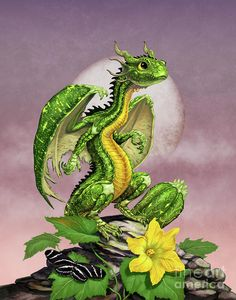 Zucchini Dragon Digital Art by Stanley Morrison
