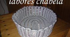 cesta hecha a ganchillo conanillas de latas, es muy sencilla, espero les guste
