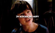 I'M BORDERLINE HAPPY. CARL GRIMES