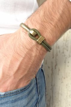 Excited to share the latest addition to my #etsy shop: Olive Green Leather Bracelet, Antique Brass Half Bracelet, Men Leather Jewelry, Green Leather Bracelet, Gift for Him, Father Cord Bracelets, Bracelet Men, Bracelets For Men, Fashion Bracelets, Green Leather, Leather Men, Multi Strand Necklace, Leather Jewelry, Mother Day Gifts