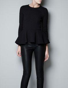JACQUARD PEPLUM TOP - Shirts - Woman - ZARA