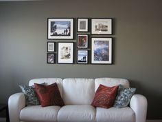 Picture Wall with Ikea frames