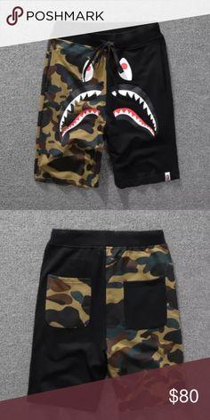 6e2fa2a99a64 Bape Shark Camo Shorts New with tags only. Black sizes M-XXL Bape Shorts