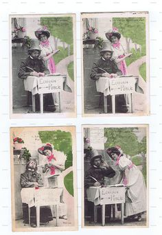 Postcards.lovers.Antique.LOT of by studioflowerpower on Etsy