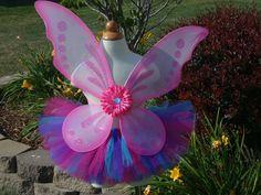 ABBY CADABBY /FAIRY/ Buttterfly Birthday tutu set....Perfect  for Themed Parties or Halloween. $36.95, via Etsy.