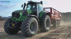 Primeur de nieuwe Deutz-Fahr 9340 TTV in actie op de Potato Europe Trekk...