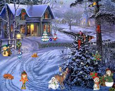 animated christmas wallpaper for computer | christmas gif animated-Zig-Zag-Wallpapers 3
