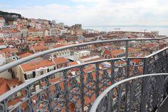 Lisszabon, Santa Justa elevador kilátója, Portugália