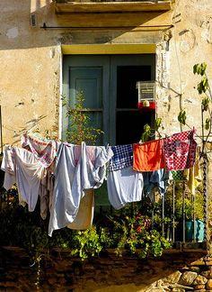 Window in Girona, Catalonia_ Spain | Washer Odor? | Smelly Towels? | Stinky Clean Laundry? | http://WasherFan.com | Permanently Eliminate or Prevent Washer & Laundry Odor with Washer Fan™ Breeze™ | #Laundry #WasherOdor