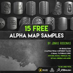 15 Free Alpha Maps