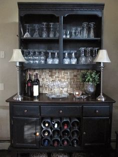 refurbished tv armoire to wine mini bar cabinet diy