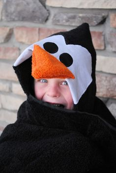 Penguin Hooded Towel Tutorial by CrazyLittleProjects.com