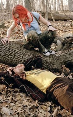 Clementine (Kate Winslet) and Joey (Jim Carrey) in The Eternal Sunshine of The Spotless Mind.