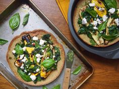 Spinach Grilled Squash Pizza