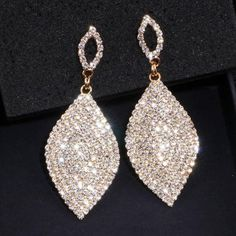 Furniture Kinel Fashion Bohemia Jewelry Blue Big Drop Earrings Inlaid Crystal Vintage Earrings For Women Antique Gold Color Christmas Gift Suitable For Men And Women Of All Ages In All Seasons