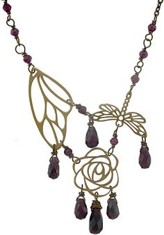 Bronze Wing Charms, craft wire, finished chains, and hand cut briolettes are all available at Nina Designs®.
