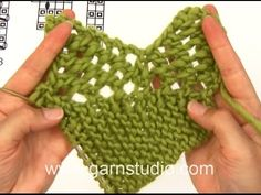 How to knit A.1, A.2 and A.3 for the shawl in DROPS 166-20 - YouTube