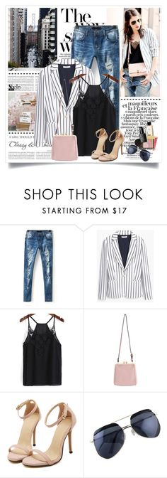 """""""Street style"""" by yexyka ❤ liked on Polyvore featuring Oris, Chanel, Børn and MANGO"""