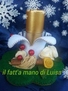 candela dorata #handmade# https://www.facebook.com/Il-fatta-mano-di-Luisa-327849927338957/#spillo e mirtillo#le maddine#