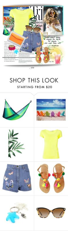 """Valentino shorts"" by antal-era ❤ liked on Polyvore featuring Yellow Leaf Hammocks, WALL, Issey Miyake, Valentino, Christian Dior, Versace, Oui, Odile!, valentino and polyvorefashion"