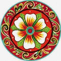 """La Costa By Jennifer Brinley. Mandala Art, Mandala Drawing, Ceramic Painting, Fabric Painting, Costa Rica Art, Stencil Printing, Magic Design, Plate Wall Decor, Deco Boheme"
