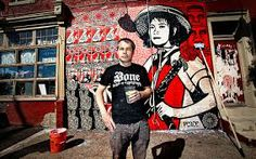 Shepard Fairey- a graffiti artist and political activist who also is very well-known in the graffiti scene, best known for his obama poster.