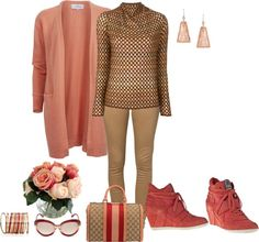 """Everything is just Peachy!"" by renitadeshanne-1 ❤ liked on Polyvore"