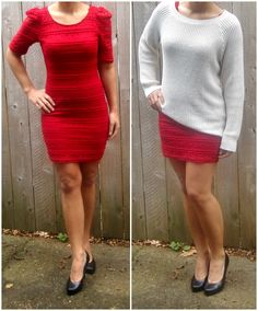 put a sweater over a dress for a daytime look!
