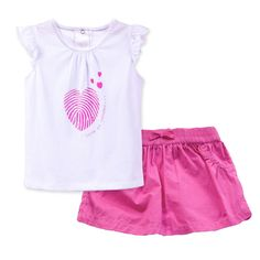 2016 Summer Baby Girl Clothes Baby Girl Clothing Set Fashion Casual T-shirt Skirt Two Piece Set Kids Clothes For Kids 10M-2Y