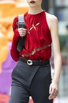 Coperni at Paris Fashion Week Fall 2020 - Details Runway Photos Red Fashion, Fashion Details, Fashion Brand, Fashion Looks, Womens Fashion, Fashion Design, Paris Fashion, Altering Clothes, Patchwork Dress