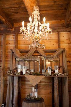 Chandeliers For Barn Wedding