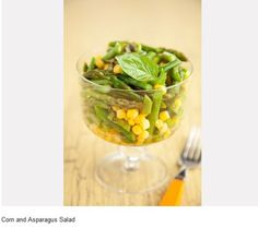 Corn  Asparagus Salad    Recipe: http://www.pauladeen.com/recipes/recipe_view/corn_and_asparagus_salad/