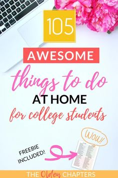 This ultimate list of things to do when bored will keep you occupied for hours on end! Check out The Olden Chapters ultimate list of staycation ideas and things to do when bored at home to get started today. Perfect for teens, for kids, and for adults to do alone or with friends, with your boyfriend, with your family, and with or with no money. Includes fun activities, crafty DIY projects, productive things to do when bored and so much more. Pin now and grab your free printable! #staycation Productive Things To Do, Things To Do When Bored, Things To Do At Home, College Quotes, College Hacks, School Hacks, Activities For Adults, Home Activities, College Survival Guide