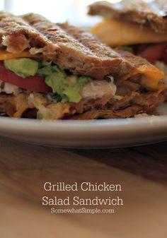 This grilled chicken sandwich recipe looks divine! #lunchideas #dinnerideas