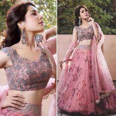 Indian Wedding Gowns, Indian Wedding Fashion, Indian Gowns Dresses, Indian Fashion Dresses, Indian Designer Outfits, Lehenga Designs Simple, Wedding Lehenga Designs, Designer Bridal Lehenga, Simple Lehenga