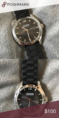 COACH WATCH AUTHENTIC Rubber WATCHBAND.. very sporty, classy watch! Coach Accessories Watches