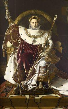 «Napoleón I en su trono imperial», de Ingres (1806)