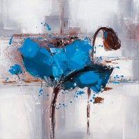 ilxe779- Schilderij bloem 75x75