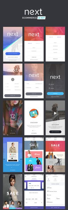 Next fashion UI kit designed for brands and designers, this package includes 35+ PSD and Sketch files. The whole pack is oriented towards E-Commerce and fashion segment, it covers all the screens that you need to build a beautiful app.