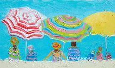 Beach decor, beach painting, beach art, seascape, ocean painting, coastal decor…