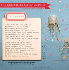 """""""JoLLyFish"""" is a poem featured in Jack Prelutsky & Carin Berger's collection, 'Stardines Swim High Across the Sky.'"""