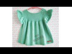YAKADAN BAŞLAMALI KOLAY BEBEK ELBİSESİ (çekiliș için açıklamayı okuyunuz) - YouTube Knitting Machine Patterns, Crochet Patterns, Ray Ban Frames, Red Sunglasses, Crochet Baby, Tunic Tops, Fancy, Summer Dresses, Crochet Baby Dresses